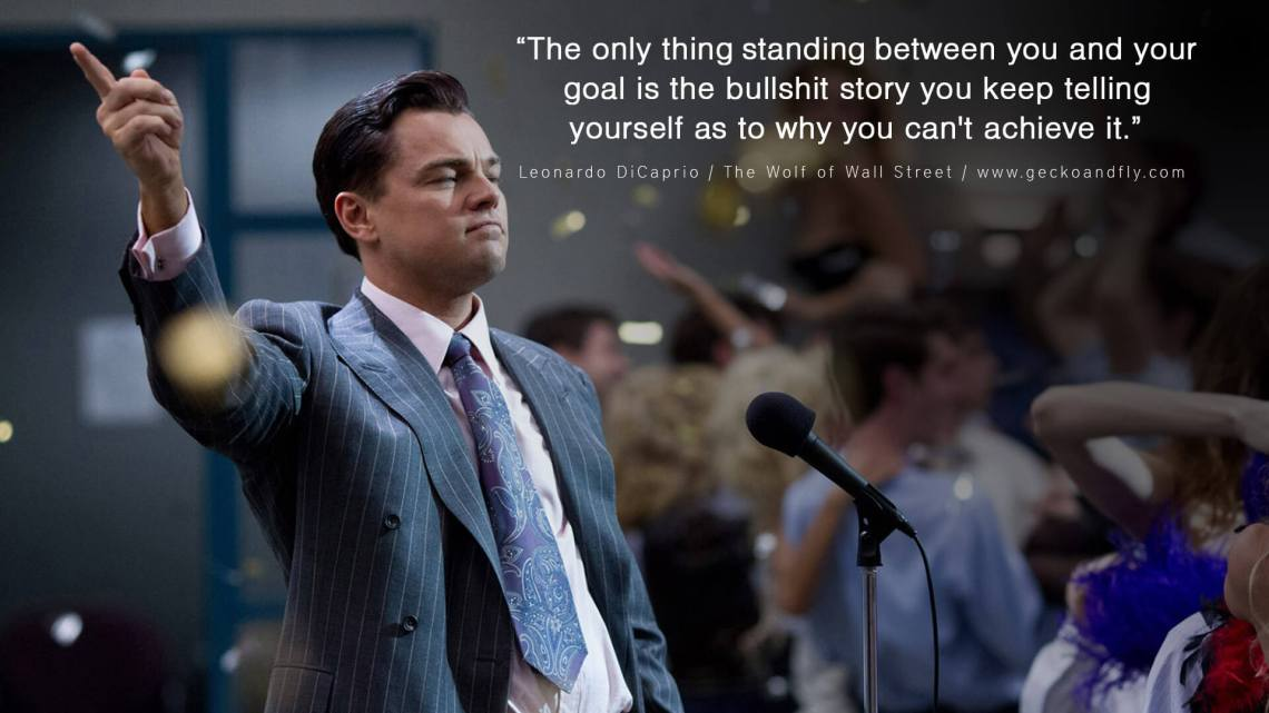 Wolf of Wall Street goals quote