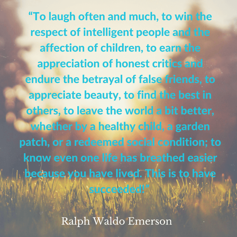 Ralph Waldo Emerson success quote