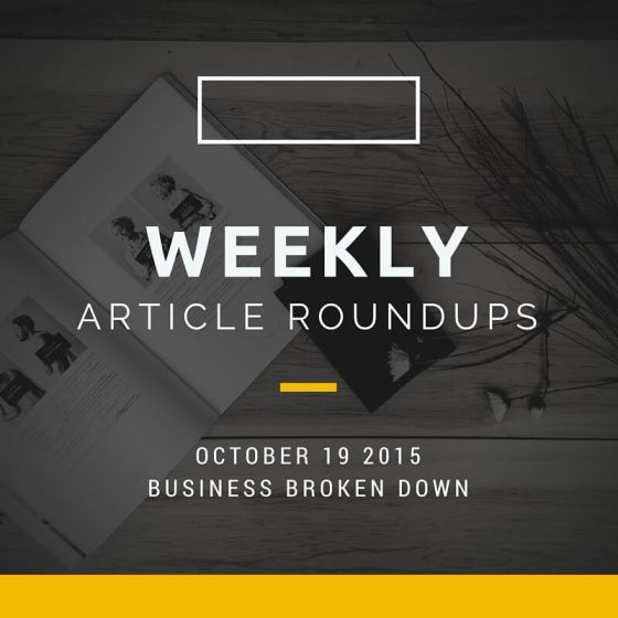 Weekly roundup 19th October