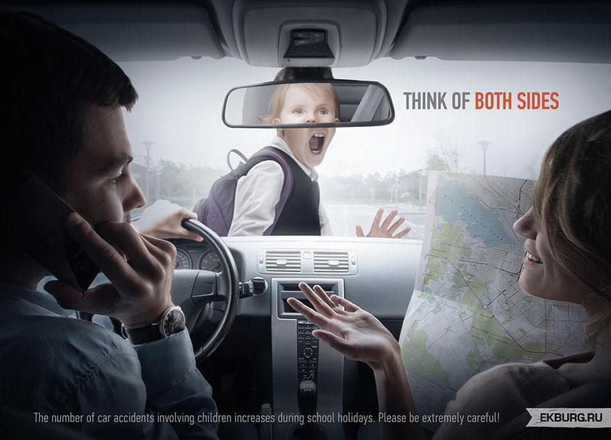 Car accident ad