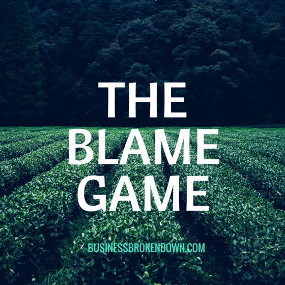 he Futility of the Blame Game