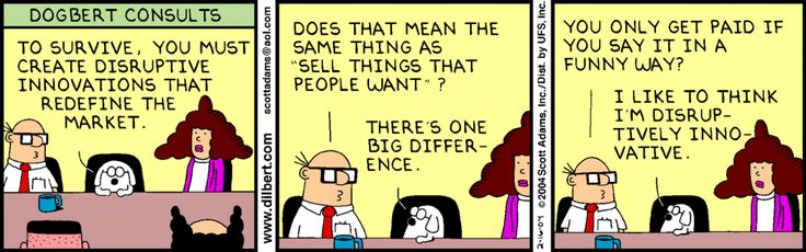 Dilbert Comics Disruptive Innovation